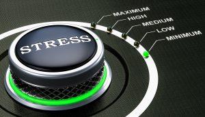 Min level of stress concept, knob. 3D rendering
